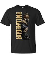 CAMISETA CONOR MC GREGOR REY KING CORONA MMA UFC JIU-JITSU ARTES MARCIALES LUCHADOR MANGA CORTA NEGRA (L)