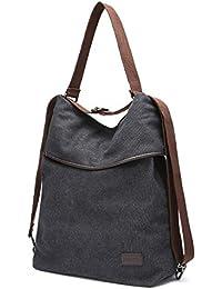 JOSEKO Canvas Tasche Segeltuch Schultertasche Damen Rucksack Handtasche Vintage Damen Umhängentasche für Reise Outdoor Schule Einkauf Alltag Büro