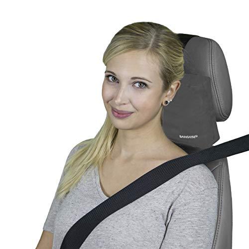 SANDINI RelaxFix® – Nackenkissen für Autositz/Nackenstützkissen/Autostützkissen – Einfache Anbringung an der Kopfstütze – Sorgt für Entspanntes Anlehnen/Zurücklehnen im Auto