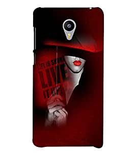 PrintVisa Stylish Cool Girl Quotes 3D Hard Polycarbonate Designer Back Case Cover for Meizu M3 Note
