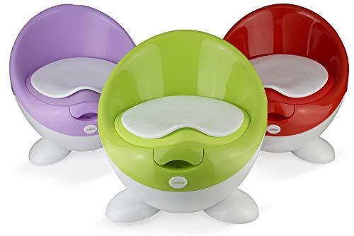 Eggloo Premium Baby Töpfchen - Toilettentrainer für Jungen und Mädchen - Ultra stabiles Design (Green)