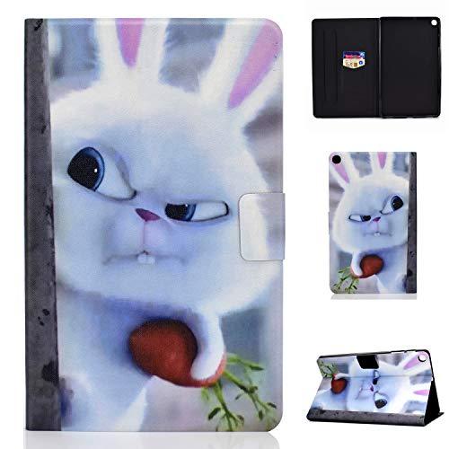 Lspcase Galaxy Tab S5e 10.5 Zoll Schutzhülle PU Leder Stand Flip Tablet Tasche Hülle mit Auto Schlaf/Wach Funktion für Samsung Galaxy Tab S5e 10.5 SM-T720 / SM-T725 Snowball Kaninchen -