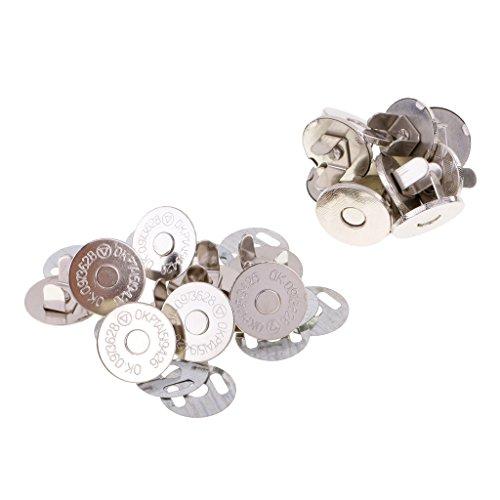 Sharplace 10 Sätze Magnetverschluss Druckknöpfe Magnet Knopf Nähen Handwerk - Silber-, 18mm