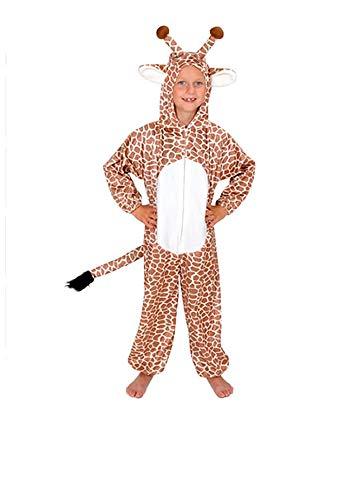 Giraffe Kinder Kostüm 122 - 128 für Fasching Karneval Rummelpott Kinderkostüm