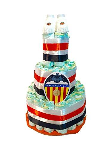 Tarta de pañales DODOT Valencia Club de Futbol + patucos