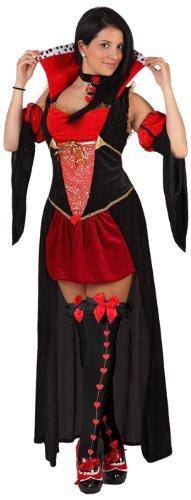Herz-Königinnen-Kostüm für Damen - M / L