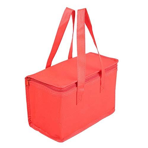 DYHM Reiseaufbewahrungstasche Organizer Hot Cold Insulated Bags Kühltasche Insulated Tote Große Kapazität Take-Out Aufbewahrungstasche (Color : Rot) Catering Line