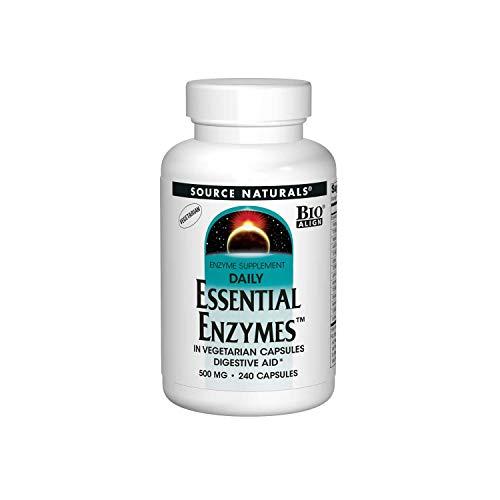 Source Naturals, Daily Essential Enzymes (tägliche essentielle Enzyme), 500mg, 240 Vegetarische Kapseln