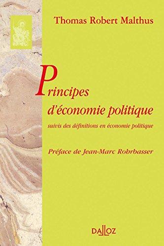 Principes d'économie politique. Suivis des définitions en économie politique: Réimpression de l'édition de 1846