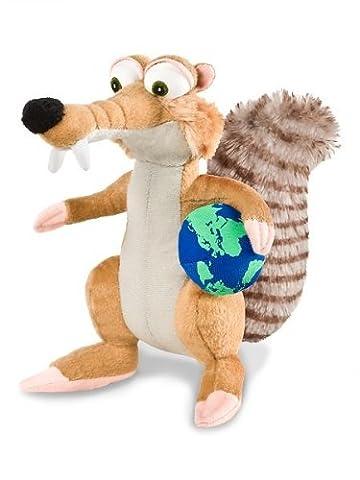 Ice Age 4 Scrat Säbelzahn-Eichhörnchen mit Weltkugel 20cm Plüsch Kuscheltier