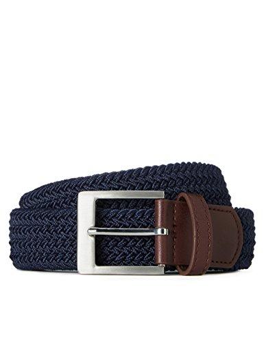 FIND Cinturón Trenzado para Hombre, Azul (Navy), (Talla del fabricante: Large)