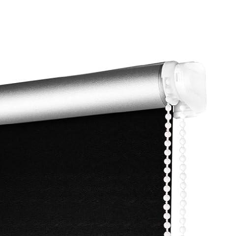 SHINY HOME® Store Enrouleur Occultant Rideau 80x175cm Largeur Ajustable Verso