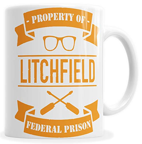 becher Weiß OINTB Litchfield Property of Federal Prison C210039 ()