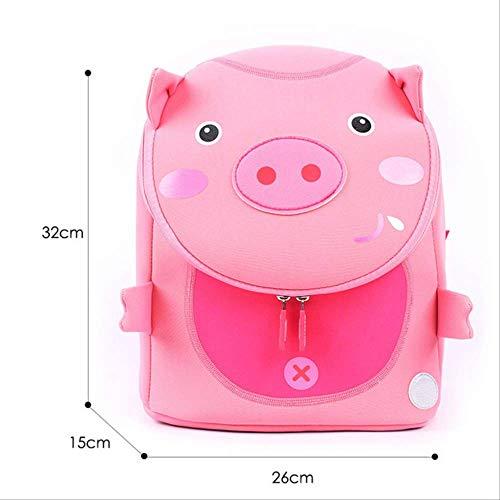 KHDJH backpackKids Schulrucksack Für Mädchen 3D Schöne Schultaschen Niedlichen Tiere Design Kinder RucksäckeRosa Schwein