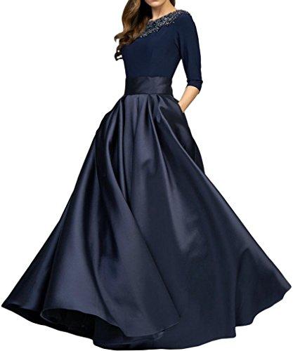 Promgirl House Damen Elegant A-Linie Abendkleider Ballkleider Festkleider HochzeitsParty Lang mit Aermel