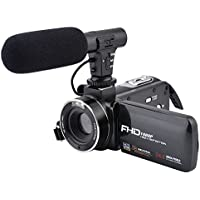 CamKing FHD 1080P 24.0MP 16X cámara Vlogging con micrófono externo y pantalla táctil IPS HD de 3.0 pulgadas con zoom digital