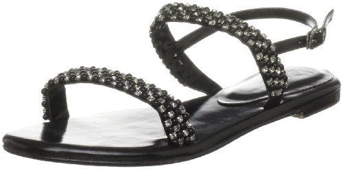 Unze Evening Sandals, Sandali donna Nero (Schwarz (L18298W))