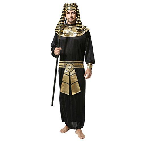 Zhuhaitf Karneval Mittelalterlich Fancy Dress Egypt Kostüm Partei Outfit für Halloween Herren Cosplay Pharao Robe Set Style 1-4 - Herren Renaissance Fancy Dress Kostüm