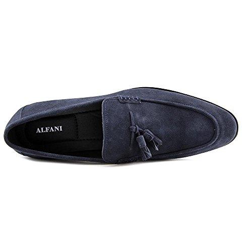 Alfani Declanny Rund Leder Slipper Navy