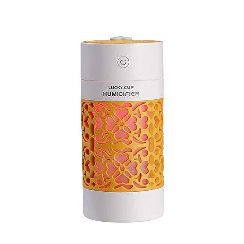Wasser, Orange Zerstäuber (PORJH USB Mini Luftbefeuchter Multifunktions Farbe Nachtlicht elektrische Aromatherapie Wasserzähler Auto Aroma Diffusor,Orange)