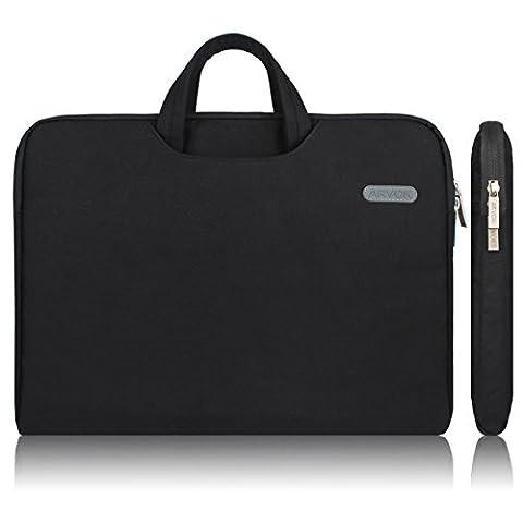 Arvok 15 15,6 16 Zoll Notebooktasche Laptoptasche Aktentasche Wasserfest Canvas-Gewebe