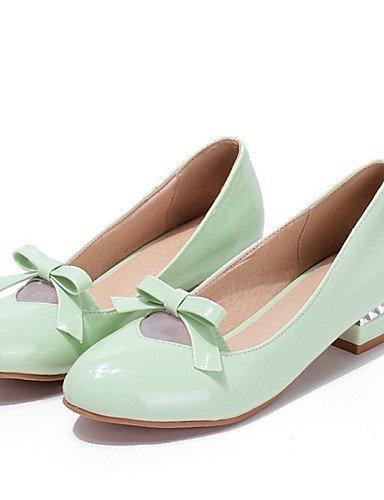 ShangYi Scarpe Donna - Mocassini - Ufficio e lavoro / Formale / Casual - Tacchi - Basso - Vernice - Verde / Rosa / Beige beige