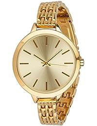 """SIX """"Geschenk"""" elegante goldene Damen Uhr mit schmalem Metall Gliederarmband in hochwertiger Geschenkbox mit Schleife (274-341)"""