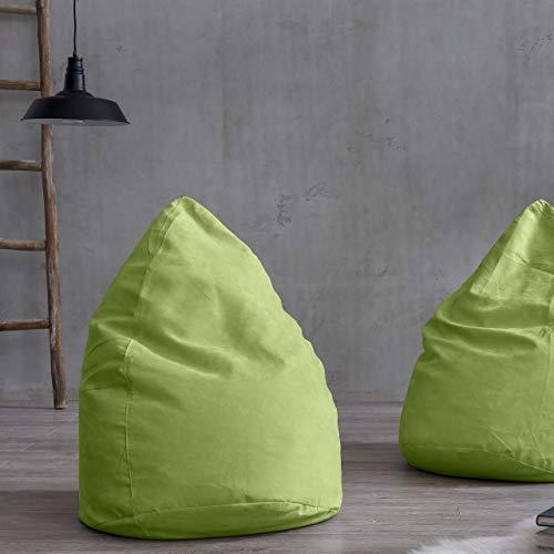 Lumaland Luxury XL Sitzsack stylischer Beanbag 120L Füllung verschiedene Farben Grün – Für alle Altersklassen - 5