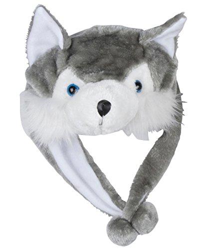 Kinder Plüsch Mütze Hut mit Tier Motiv für Winter, Kostüm, Fasching, Karneval, Verkleidung, Party Spass (Bär Kostüme Kuschel)