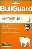 Bullguard Antivirus 2019 - Lizenz für 2 Jahre und 1 PC! Windows 10|8.1|8|7|Vista [Online Code]