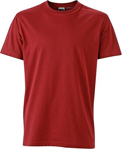 FaS50838 Workwear Herren T-Shirt Rundhals Shirt auch in Übergröße 60°C waschbar Wine