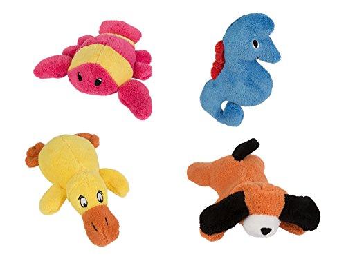 Betz 4er Set Badetiere Badespielzeug aus Plüsch: Hund, Ente, Hummer und Seepferdchen (Hummer Plüsch)