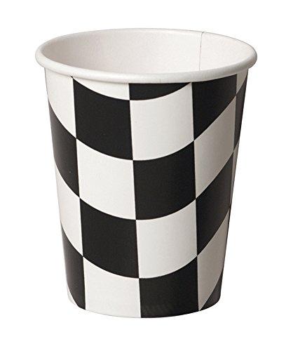 Unbekannt Creative Converting 8Zählen Hot oder kalte Getränke Tassen, schwarz und weiß kariert