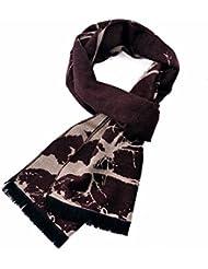 MZMZ ULTRA apretado el cuello BMBAI cálido-moderno y cálido hombres bufanda cepillado cálido invierno largo un plano de color maple leaf colisión, Bufanda Negra