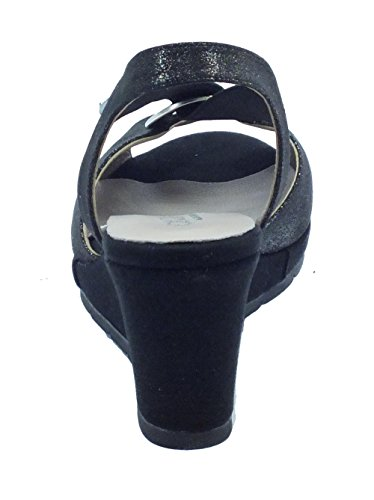 Cinzia Soft  51551cs Glitter Nero, Sandales pour femme Noir