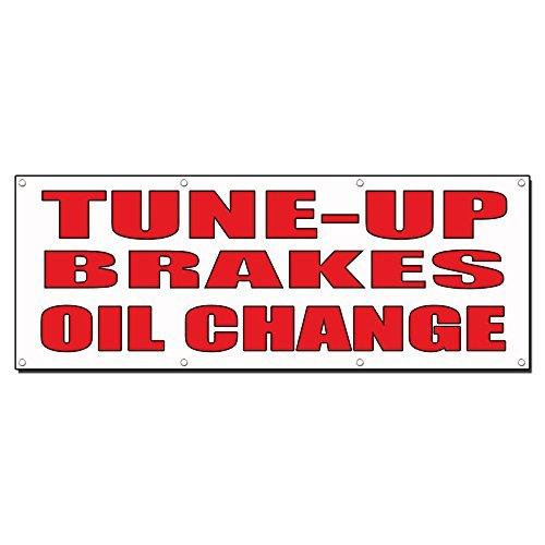 tune-up/freno/cambio olio auto Body Shop auto vinyl banner Sign con gommini 3 Ft X 6 Ft