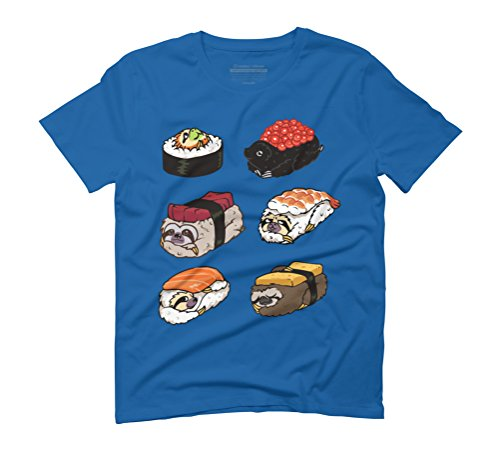 Sushi Sloths Men's Graphic T-Shirt - Design By Humans Royal Blue