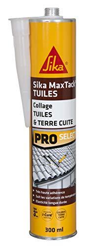 Sika Maxtack Tuiles, Mastic colle souple pour réparation et collage de tuiles, 300ml, Terre cuite
