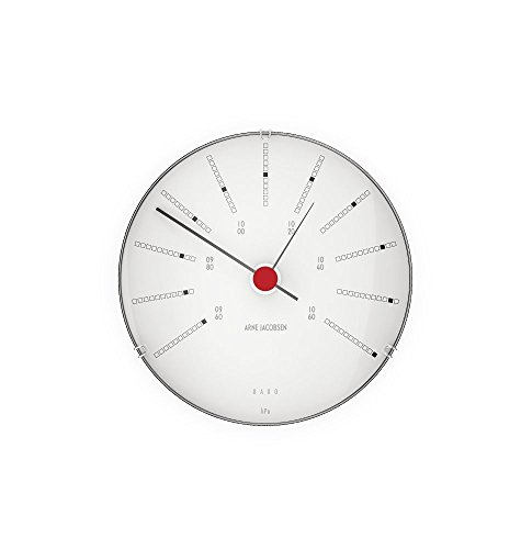 Arne Jacobsen Bankers Barometer Wetterstation [Durchmesser 12 cm]