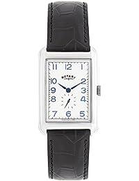 Rotary GS02697/21 - Reloj de pulsera hombre, piel, color negro