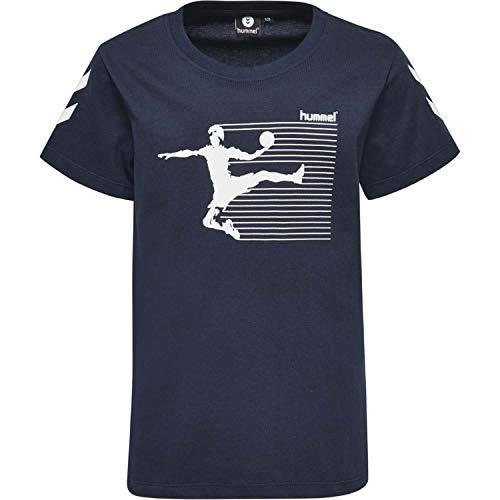 Hummel Jungen HMLKEVYNC S/S T-Shirt, Total Eclipse, 152