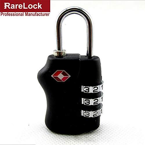 4 Color Zinc Alloy Portable TSA Zipper Gepäck Bag Lock Lock Travel Handtasche Box 3 Group Code Kombination Drawer Locks,Red Code Red Zipper