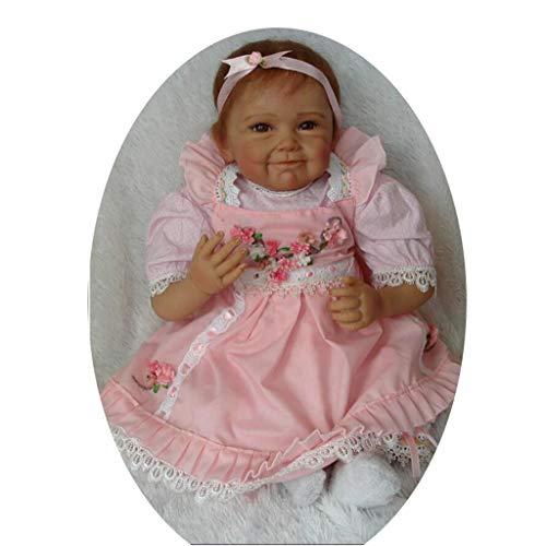 JINGJING 55cm Simulation Baby Wiedergeburt Puppe Mädchen Spielzeug, Blueeyes -