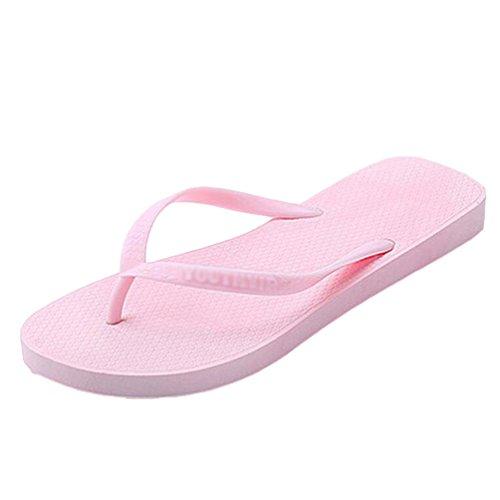 Yiiquan Donna Infradito Estate Flip Flops Sandali Spiaggia Piscina Scarpe Rosa