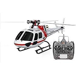 JTMML Helicóptero RC Grande Helicóptero RC De 6 Canales, 2.4Ghz con Giroscopio 6-Aixs Y Resistencia A La Luz LED para Caídas, para Niños Y Adultos Regalo para Principiantes