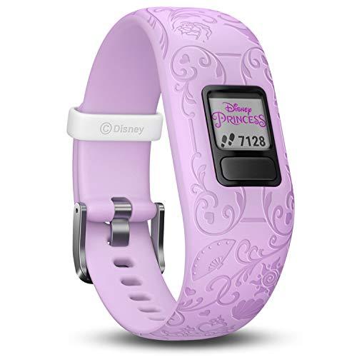 Garmin vívofit jr. 2, wasserdichte Action Watch für Kinder - Disney Prinzessin mit Abenteuer-App, violett (Princess Lila Disney)