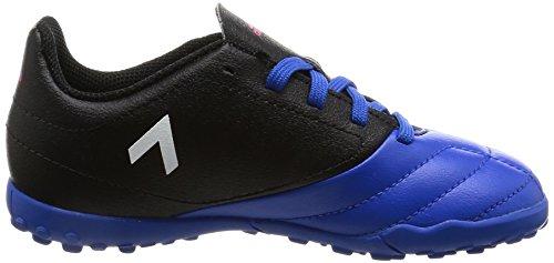 adidas  Ace 17.4 Tf J, Chaussures de Football Entrainement Unisexe - enfant noir/blanc/bleu