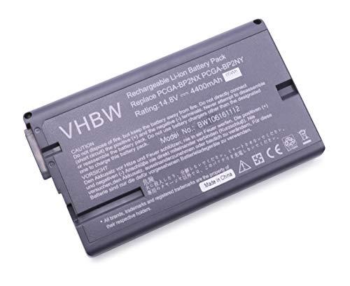 vhbw Batterie LI-ION 4400mAh 14.8V Noir Compatible pour Sony remplace PCGA-BP2NX, PCGA-BP2NY