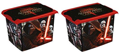 2x Caja para juguetes juguete caja Fashion Caja de Star Wars 20L
