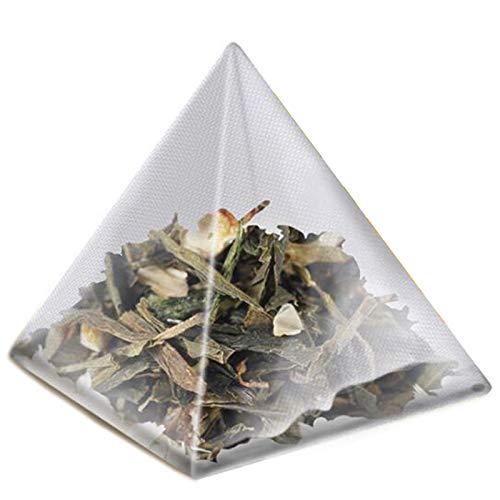 Fauge 1000Pcs5.5 7Cm Pyramide Tee Beutel Filter Nylon Tee Beutel Einzelne Schnur ufkleber Transparenter Leerer Tee Beutel